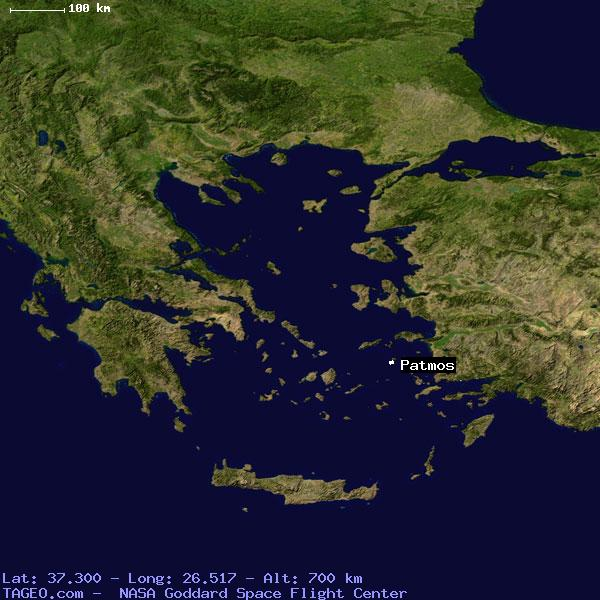 Patmos Dodekanisos Greece Geography Population Map Cities
