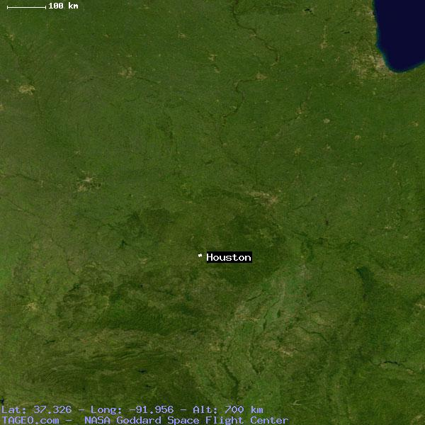 Houston Missouri United States Geography Population Map Cities