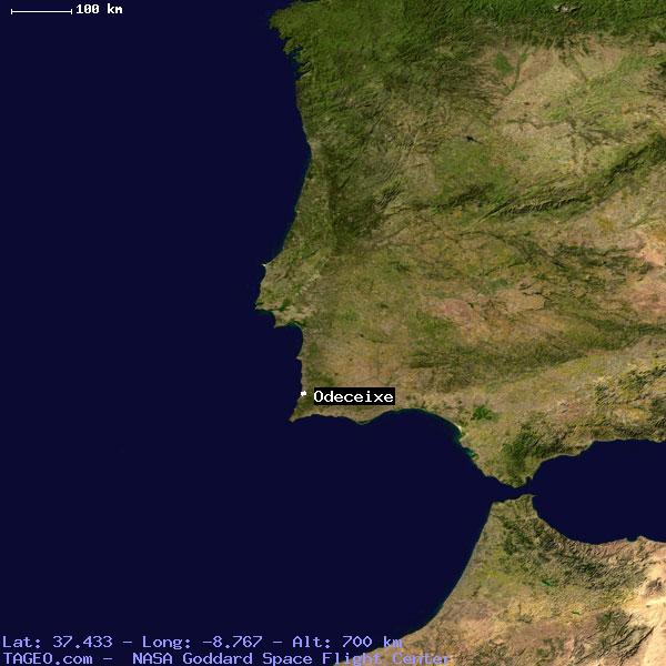 ODECEIXE FARO PORTUGAL Geography Population Map Cities Coordinates - Portugal map sines