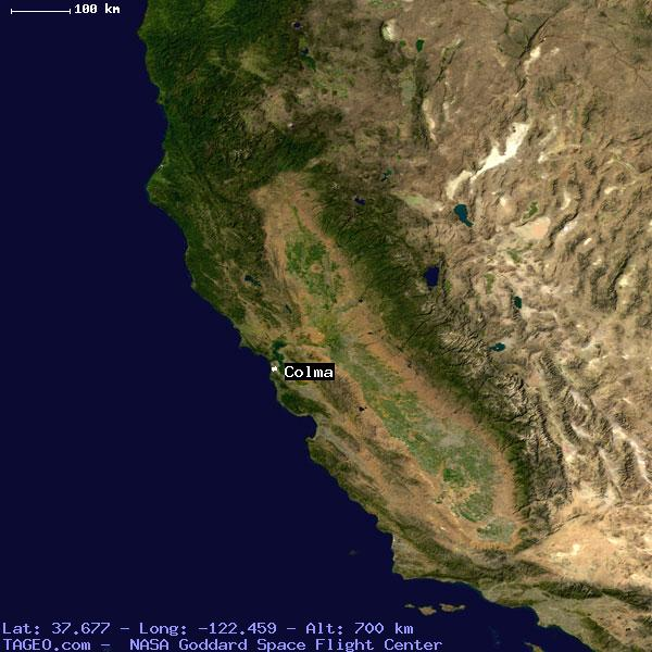 Colma California United States Geography Population Map Cities