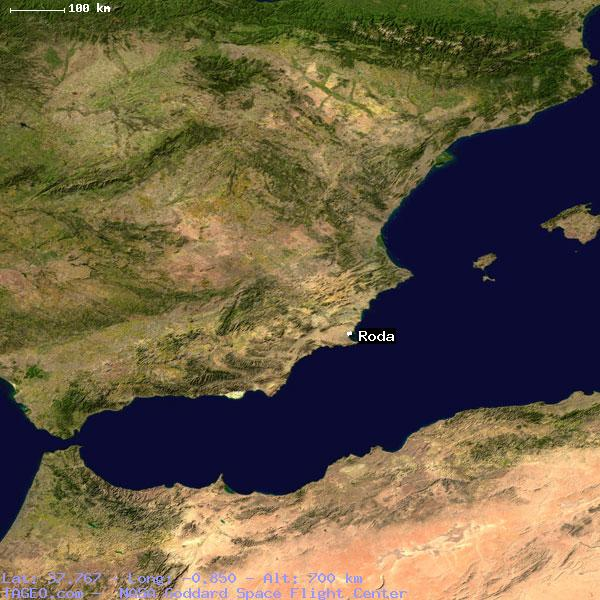 Roda Murcia Spain Geography Population Map Cities Coordinates