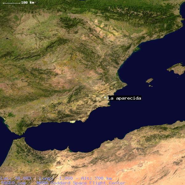Satellite Map Of Spain.La Aparecida Valenciana Spain Geography Population Map Cities