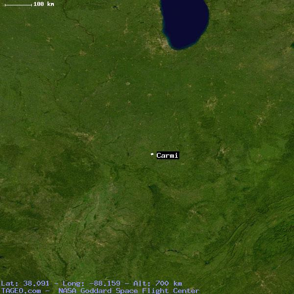 Carmi Illinois United States Geography Population Map Cities