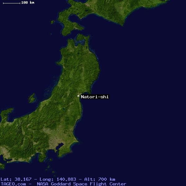 Natori shi japan general japan geography population map cities satellite view of natori shi gumiabroncs Choice Image