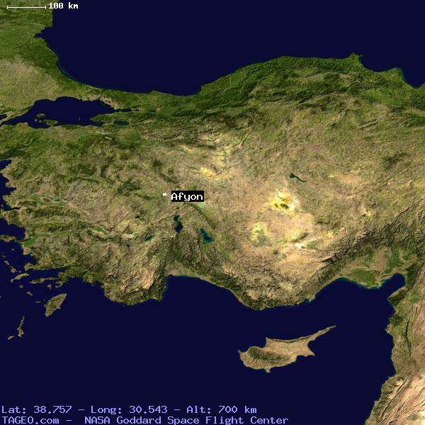 Afyon Afyon Turkey Geography Population Map Cities