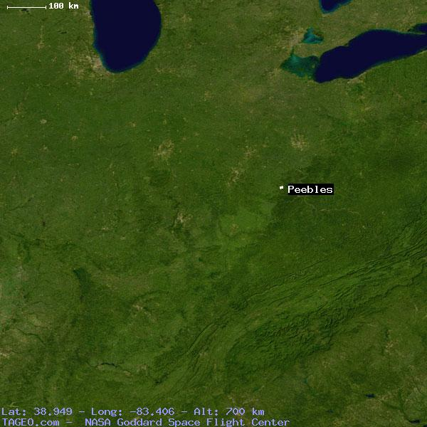 Peebles Ohio United States Geography Population Map Cities