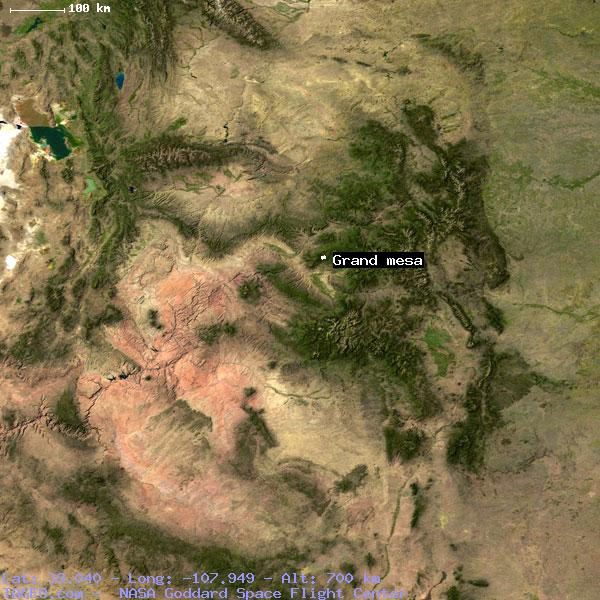 Grand Mesa Colorado United States Geography Population Map Cities
