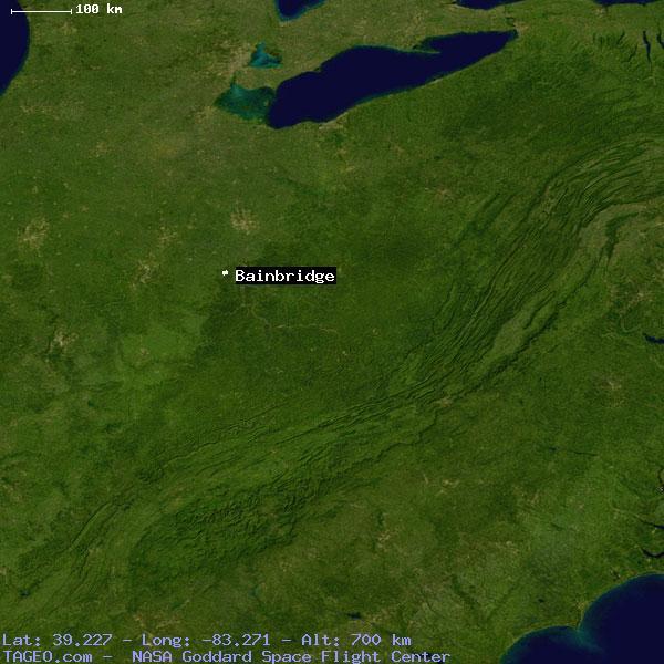 Bainbridge Ohio United States Geography Population Map Cities