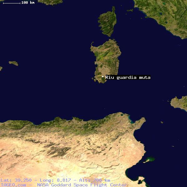 Riu Guardia Muta Sardegna Italy Geography Population Map Cities