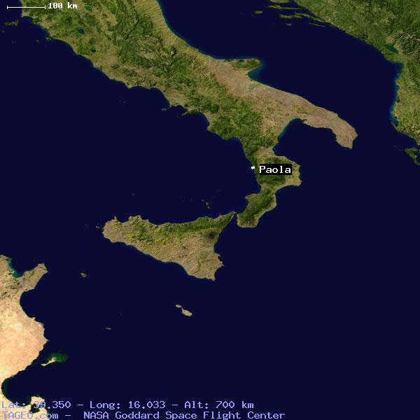 PAOLA ITALY (GENERAL) ITALY Geography Population Map cities