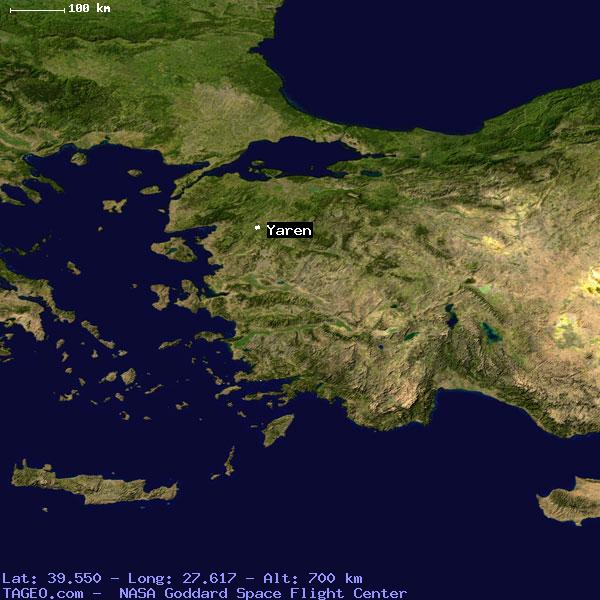 YAREN BALIKESIR TURKEY Geography Population Map cities coordinates ...