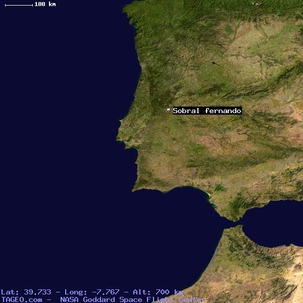 SOBRAL FERNANDO CASTELO BRANCO PORTUGAL Geography Population Map - Sobral map