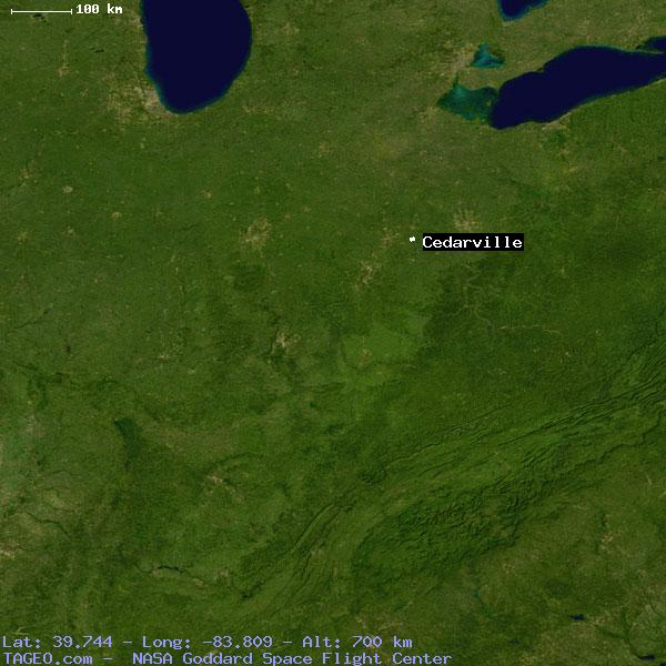 CEDARVILLE OHIO UNITED STATES Geography Population Map Cities - Map of cedarville ohio us
