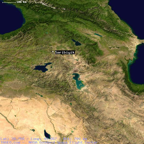 SARIBIYIK AGRI TURKEY Geography Population Map cities