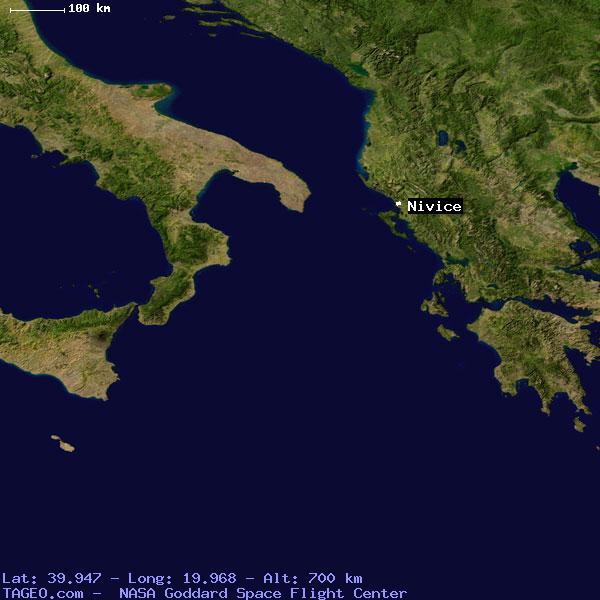 NIVICE VLORE ALBANIA Geography Population Map Cities Coordinates - Albania satellite map