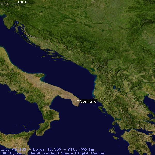 Satellite view of serrano
