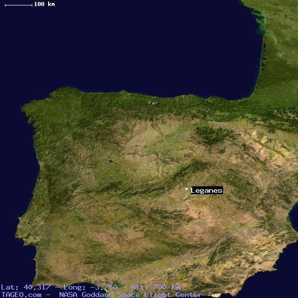 LEGANES MADRID SPAIN Geography Population Map Cities Coordinates - Leganés map