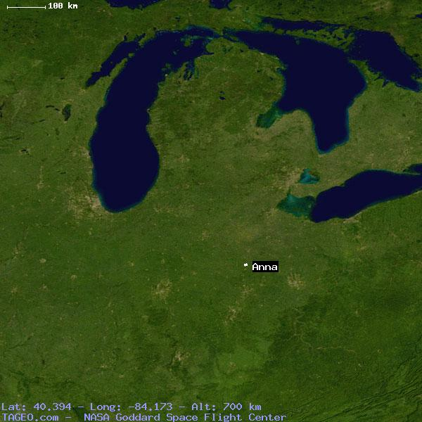 Anna Ohio United States Geography Population Map Cities Coordinates