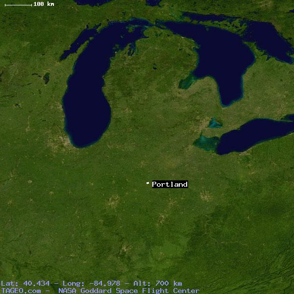 Portland Indiana United States Geography Population Map Cities