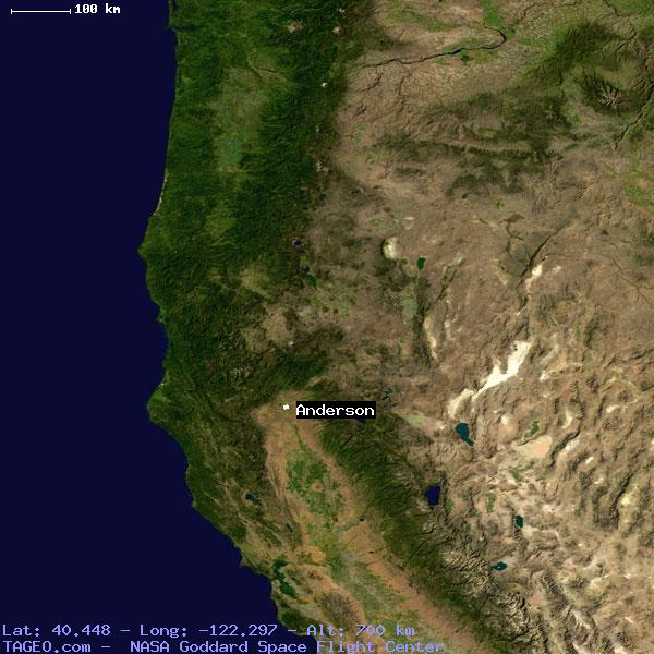 Anderson California United States Geography Population Map Cities