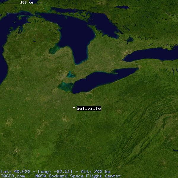 BELLVILLE OHIO UNITED STATES Geography Population Map Cities - Belleville oh on us map