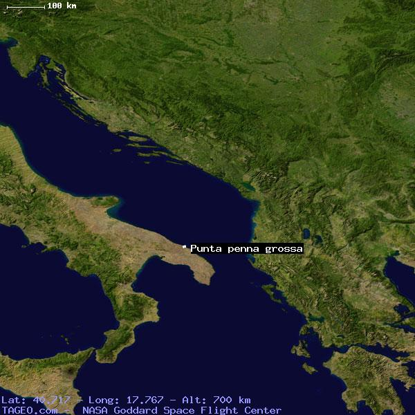 PUNTA PENNA GROSSA ITALY GENERAL ITALY Geography Population Map - Map of penna
