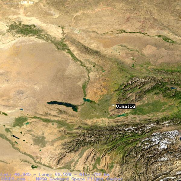 OLMALIQ TOSHKENT UZBEKISTAN Geography Population Map Cities - Olmaliq map