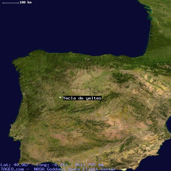 Map Of Yecla Spain.Yecla De Yeltes Castilla Y Leon Spain Geography Population Map