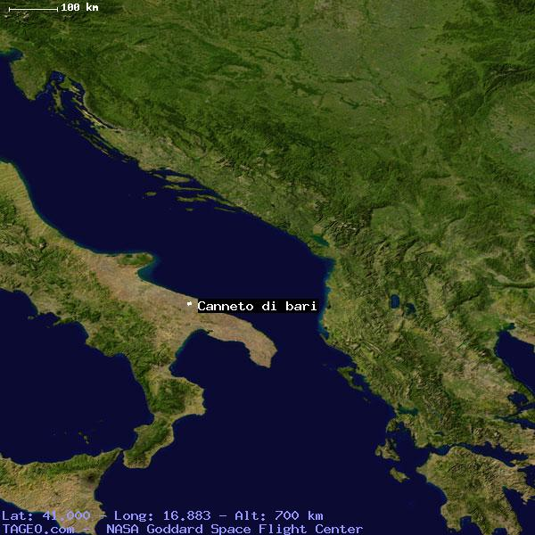 Canneto Di Bari Italy General Italy Geography Population Map