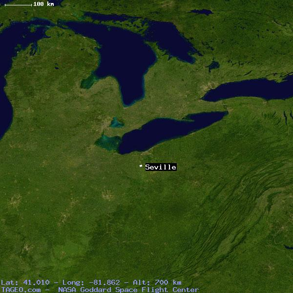 Seville Ohio United States Geography Population Map Cities