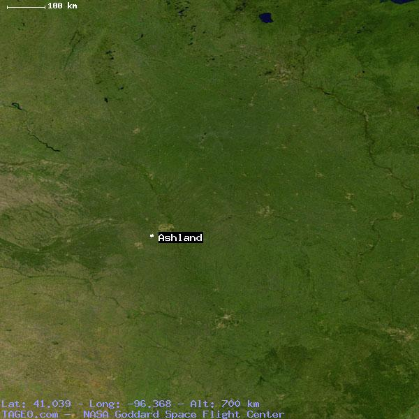 Ashland Nebraska United States Geography Population Map Cities