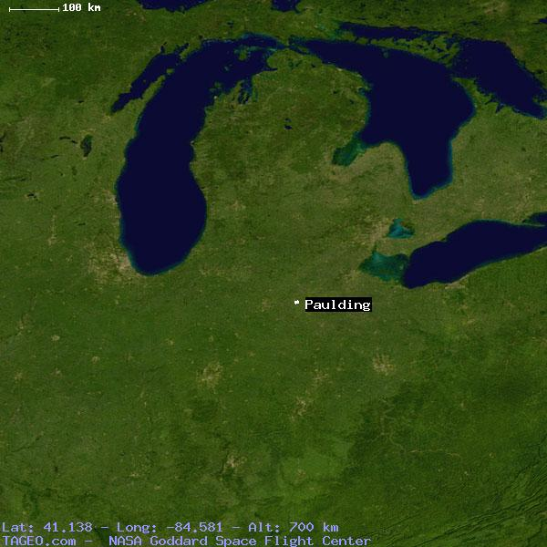Paulding Ohio United States Geography Population Map Cities