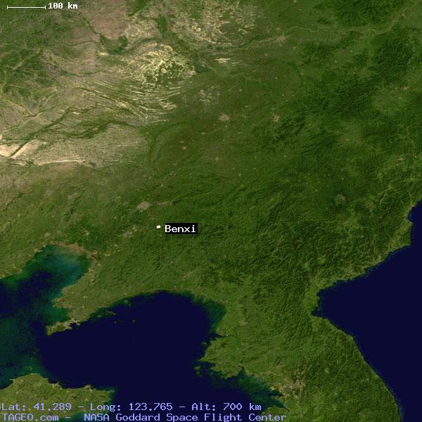 BENXI LIAONING CHINA Geography Population Map Cities Coordinates - Benxi map