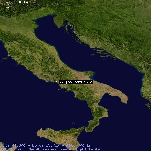 Spigno Saturnia Italy General Italy Geography Population Map