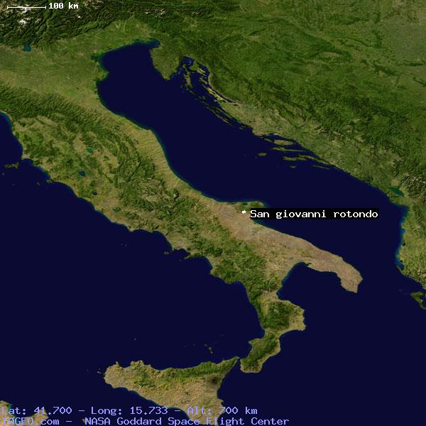 San Giovanni Rotondo Italy Map.San Giovanni Rotondo Italy General Italy Geography Population Map