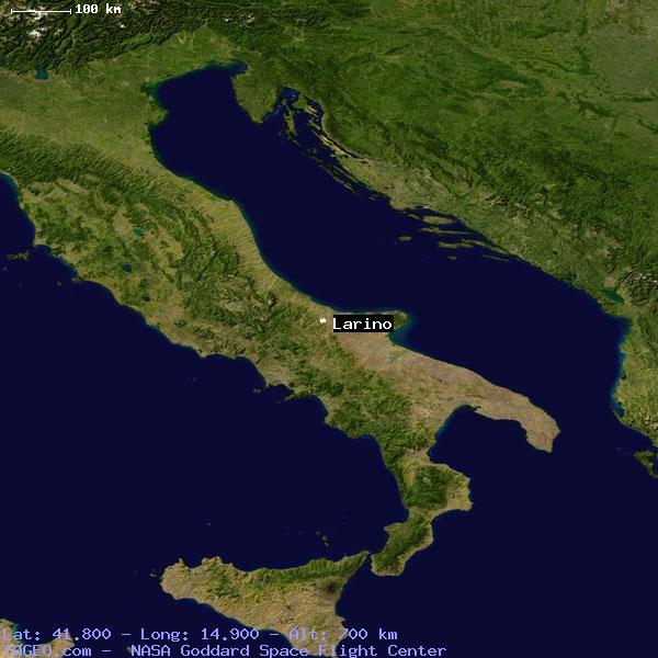 Satellite view of larino