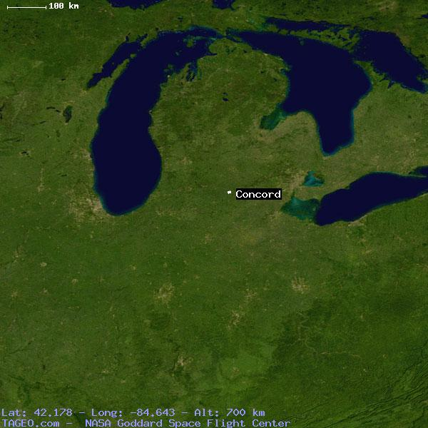 Concord Michigan Map.Concord Michigan United States Geography Population Map Cities