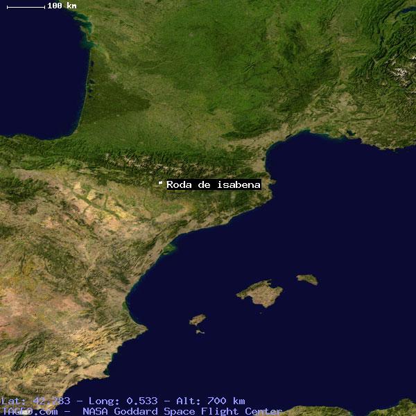 Roda De Isabena Aragon Spain Geography Population Map Cities