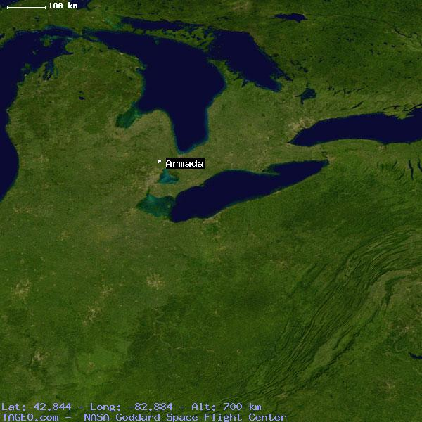 Armada Michigan United States Geography Population Map Cities