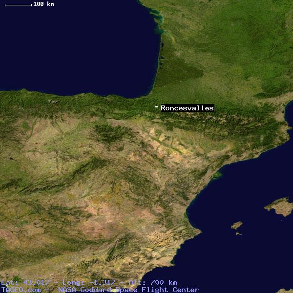 Map Of Spain Geography.Roncesvalles Navarra Spain Geography Population Map Cities