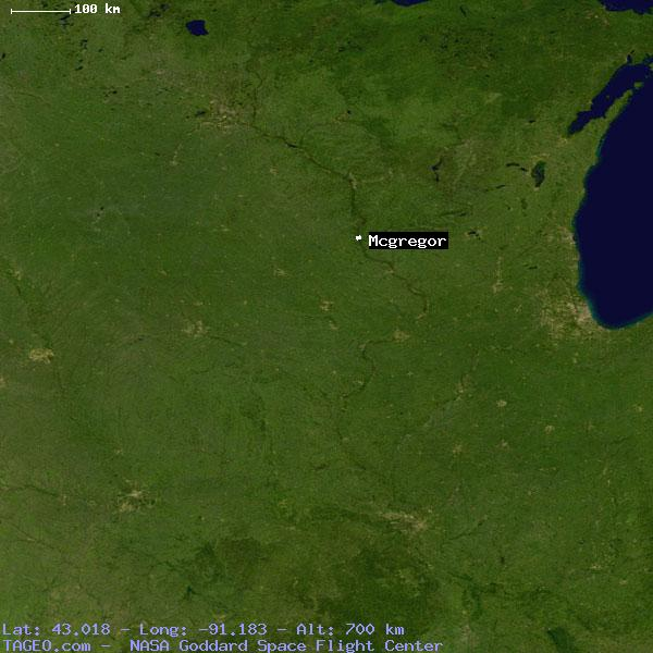 Mcgregor Iowa United States Geography Population Map Cities