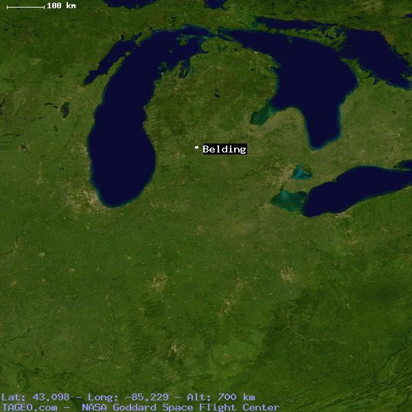 Belding Michigan United States Geography Population Map Cities