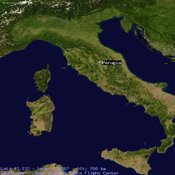 Perugia Umbria Italy Geography Population Map Cities Coordinates