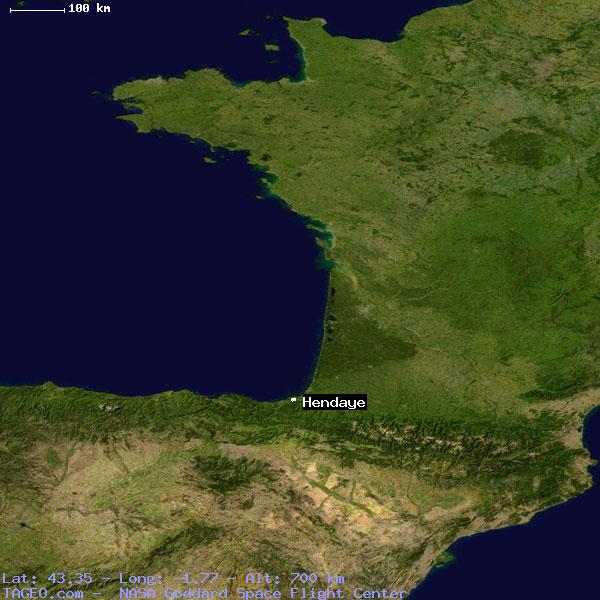 Hendaye France Map.Hendaye Pyrenees Atlantiques France Geography Population Map Cities
