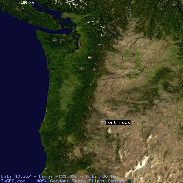 Fort Rock Oregon United States Geography Population Map Cities