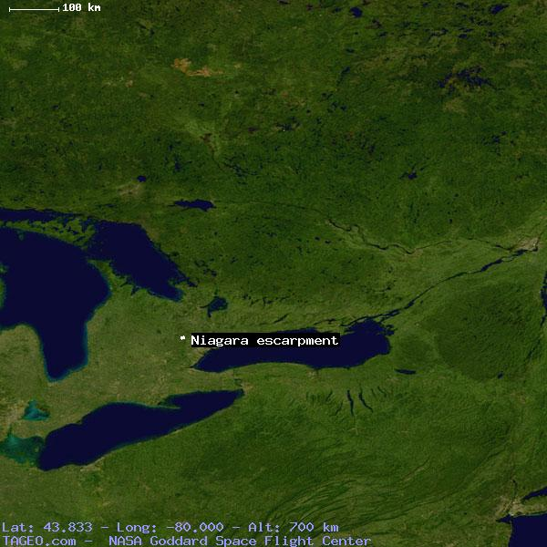 Niagara Escarpment Wisconsin Map.Niagara Escarpment Ontario Canada Geography Population Map Cities