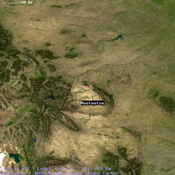 Meeteetse Wyoming United States Geography Population Map Cities