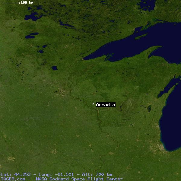 Arcadia Wisconsin United States Geography Population Map Cities
