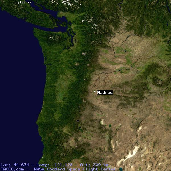 Madras Oregon United States Geography Population Map Cities