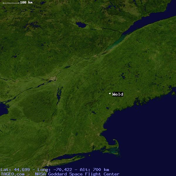 Weld Maine United States Geography Population Map Cities Coordinates